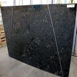 El polaco natural importado de losa de granito negro Black Beauty
