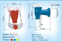 Mango de plástico transparente el agua del grifo- T12