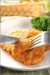 Bistecca fritta Frozen della coscia del pollo senz'ossa