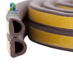 Tipo autoadesivo isolamento acustico anticollisione di EPDM D di Excluder della gomma piuma delle fettucce di vigogna di sigillamento della porta a lamelle della cambiale di gomma di Windows