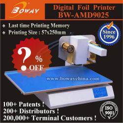 Laatste Afdrukgeheugen Pvc Pu Vinyl Kunststof Digitale Handleiding Flatted Hot Stamping Foil Printer Machine