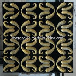 黒い大理石の金の銀光沢があるデザイン3Dによって切り分けられる芸術の壁のタイル
