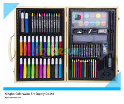 86 PCS Drawing Art Set em Wooden Box para Kids e Students