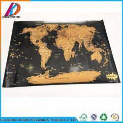 صنع وفقا لطلب الزّبون رفاهيّة سفر خدش كلمة خريطة مع مستديرة أسطوانة [جفت بوإكس]