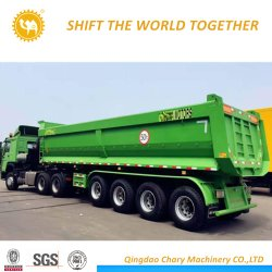 35 metro cúbico Serviço Pesado Reboque 4 Eixos Dumper semi reboque/ dump semi reboque para a África Ocidental