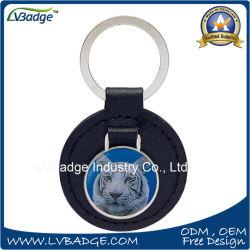 Touche de mode de chaîne de clé de promotion de la chaîne chaîne de clés en cuir