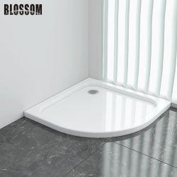 コーナークアドラントホワイトシンプルデザインのシャワールームトレイ付き。バスルーム用