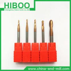 Hiboo HRC58のCNC機械のための安い炭化物の球の製粉カッター