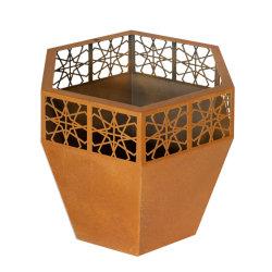 Jardim Plantadeira de metal/Plantadeira de aço inoxidável/alumínio Caixa de plantadeira Flor de aço corten /Pot/Plantadeira de aço corten