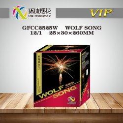 1 pollice Wolf Song 25 colpi Professional Consumer 1.4G potente Outdoor celebre Mostra fuochi d'artificio Tortas