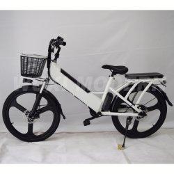 강력한 모터가 장착된 현대적인 전기 자전거 산 자전거