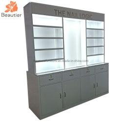 Nr012 Boutique de dessins et modèles de meubles de clou de luxe Double côté Vernis à Ongles Cabinet d'affichage à LED