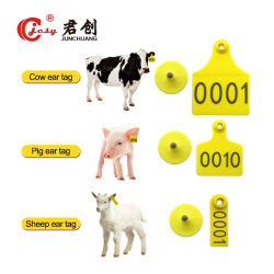 Verschiedene Farben Jcet011 der Schwein-Ohr-Marken mit Seriennummer-Tiermanagement-Ohr-Marken