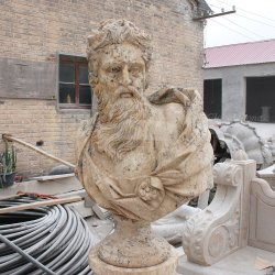 Decoración tallada de mármol puro macho busto