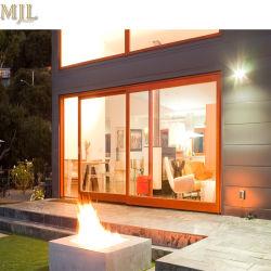Luxuriöses vier Glas-Panel-hölzerne Aluminiumtür für Bauvorhaben