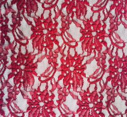 Bloemen brei Kant van Spandex van de Polyester van de Kleding van de Doek van de Stof het Stevige
