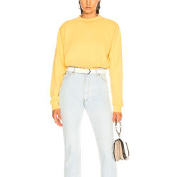 Mode femme Pull col rond jaune