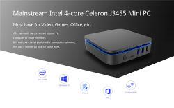 Barata CPU Intel de alta velocidad de la escuela J3455 PC AK1