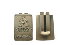 As embarcações de moda Custom Antique Gold Hat o Clube de Golfe de clipe de papel moeda de aço abraçadeira para os utilizar (010)