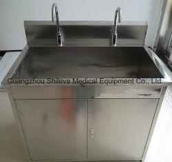 Châssis en acier de lavage du dissipateur de Scrub médical Bureau de travail pour l'Hôpital Salle d'exploitation