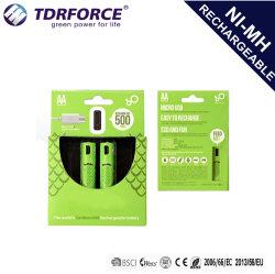 batterie rechargeable 1,2V AA 1000mAh Batterie au lithium rechargeables USB