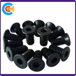 Aço carbono galvanizado Quadrada de cabeça plana do parafuso da chapa de metal