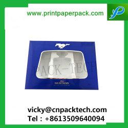 Carte de pliage de luxe Bijoux de gaufrage Emballage Boîte de Papier de présentation des boîtes d'extension de cheveux avec fenêtre PVC