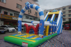 Petit Obstacle Inflatable drôle Diapositive sec Jump Bouncer Diapositive