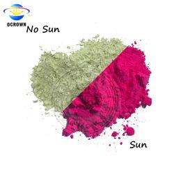 Tipo fotocrómico pó UV Alteração da cor do pigmento da luz do sol para tecidos