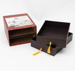 Tiroir/couvercle et base papier/carton vente chaude à la mode des bijoux de regarder la combinaison de cadeaux Emballage