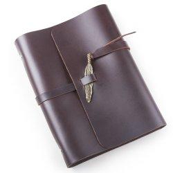 Brown, una banda de cuero de PU5 Diario de la escuela Note Book