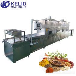 Tunnel industriale microonde cibo cereali frutta secca Spezie tè alle erbe in polvere Essiccatore macchina di sterilizzazione per essiccazione a tostatura