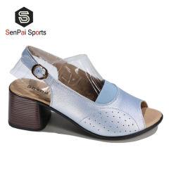 여자 샌들 쐐기(wedge) 신발 여름 땅딸막한 발뒤꿈치 단화