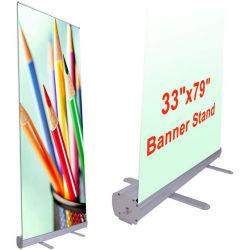 Rouleau escamotable en aluminium personnalisé jusqu'Banner Stand d'affichage de la conférence