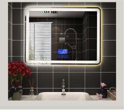 현대적인 벽면 장착형 터치 센서 스위치 Infinity 맞춤형 거울 욕실 조명 거울