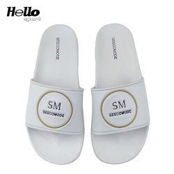 Les diapositives Hellosport Mens Logo personnalisé Soft pantoufles, les hommes de diapositives en PVC, les hommes de patin de la Chambre des sandales de patin intérieur original