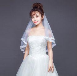 Sluier van het Hoofddeksel van de Juwelen van het Huwelijk van het Kant van de manier de Bruids