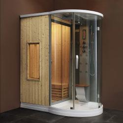 Accueil Salle de vapeur d'un sauna et douche combinées