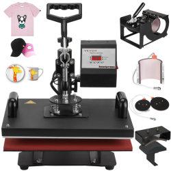 6 en 1 Appuyez sur le transfert de chaleur T-Shirt Mug Hat Sublimation Machine d'impression de l'imprimante