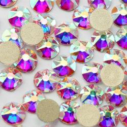 Crystal Ab стекла Flatback стразами, лак для ногтей кристаллов