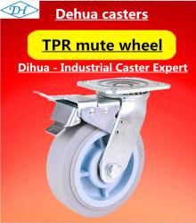media 5-Inch e rotella universale silenziosa di gomma artificiale resistente di TPR