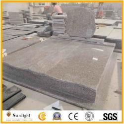 Custom G664/G603/Negro Shanxi Europa lápida monumentos con lápida tallada