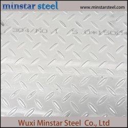 1,4301 en relieve laminadas en caliente de la placa de acero inoxidable 304/hoja