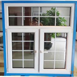 Guangzhou de PVC de la casa de doble acristalamiento de puertas y ventanas/vinilo de acero laminado de plástico de UPVC doble acristalamiento de ventanas de impacto del huracán de vidrio