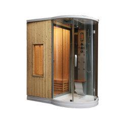 Banheira de venda de banho a vapor Luxory Chuveiro Sauna combinado