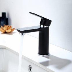 透かしの承認の固体真鍮のクロム黒の洗面器のコック