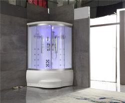 Venta de la esquina caliente de lujo portátil hidromasaje ducha puertas corredizas de Sauna de Vapor Sala (Y839)