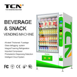 Tcnの軽食の飲料の冷たい飲み物ビールミルクのセリウムおよびISO9001証明書が付いている自動コンボの自動販売機