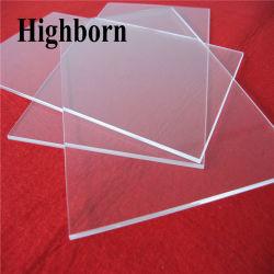 Effacer Square de la plaque de verre de quartz silice poli