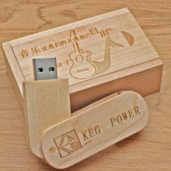 Logotipo personalizado 8 GB de 16 G chave USB de madeira